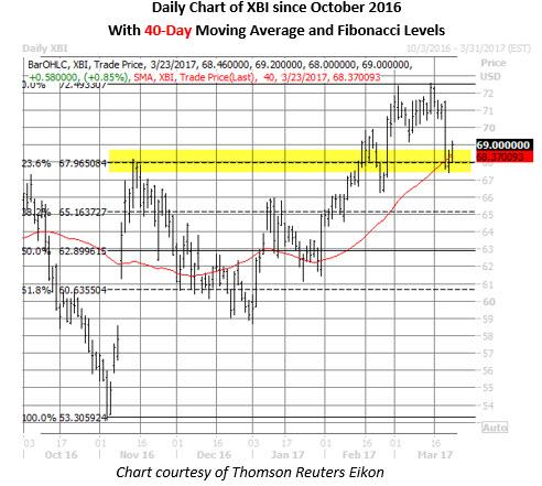 xbi shares daily price chart