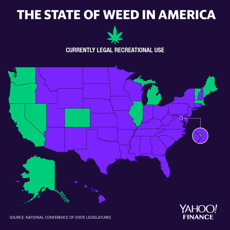A breakdown of legalization on a state level in the U.S.