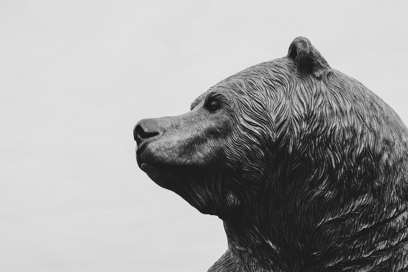 wall street bear statue for a bearish market and bearish options traders