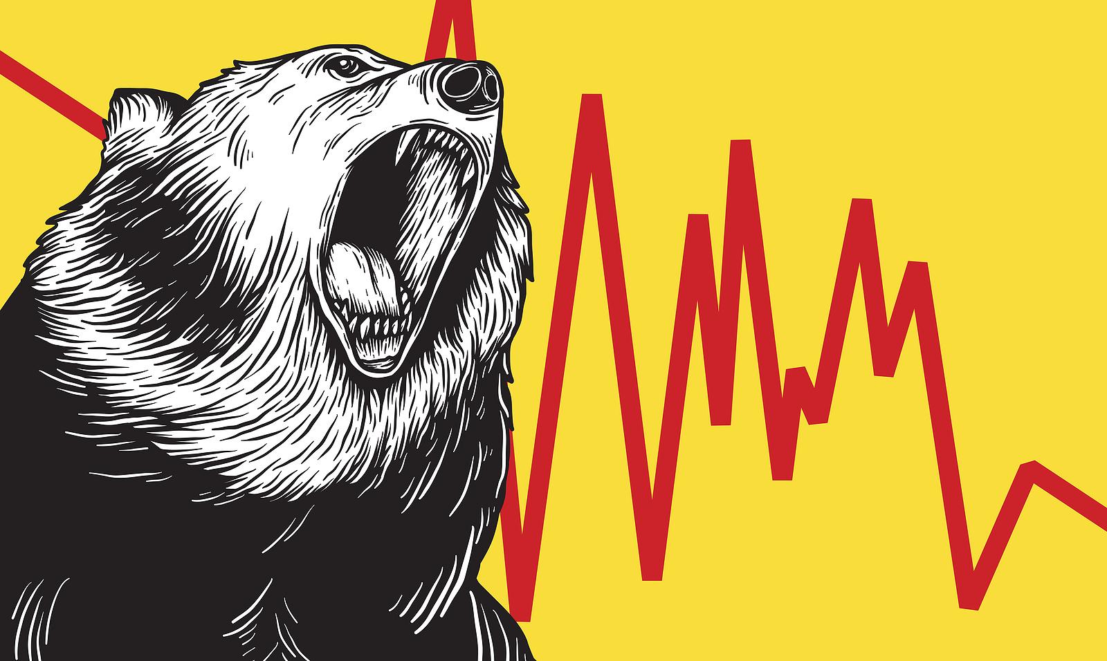 Bearish with yellow chart