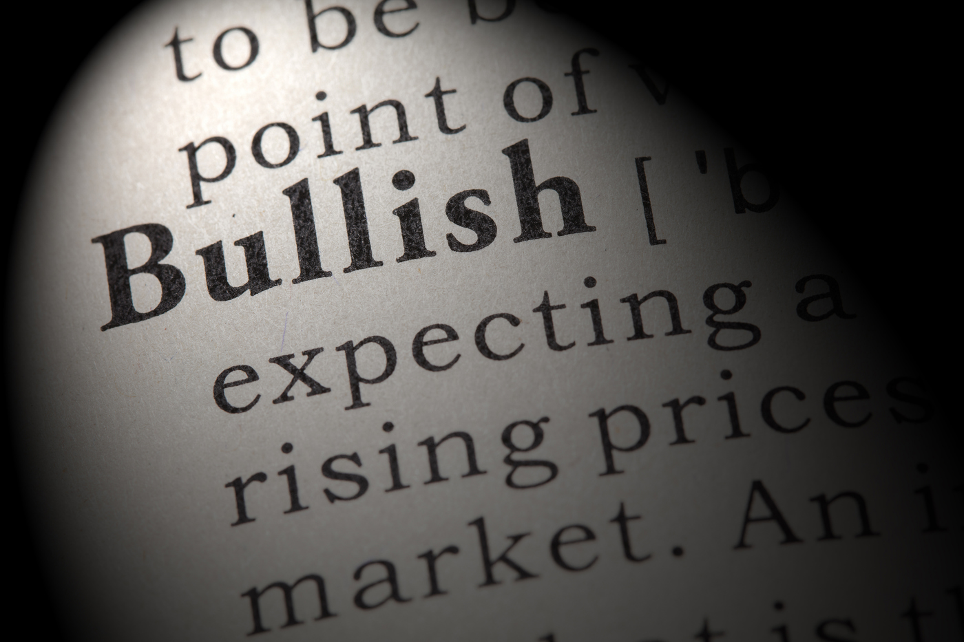 Bullish trader, betting on upside, bullish stock outlook, record highs