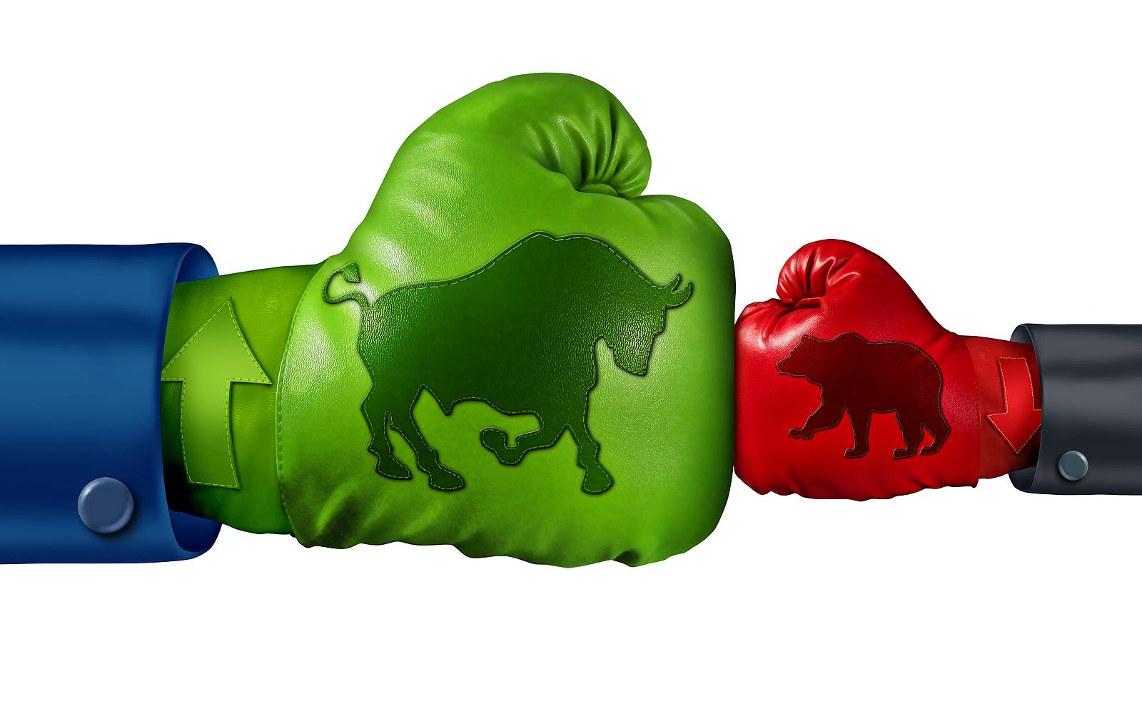 Bull beating bear punch