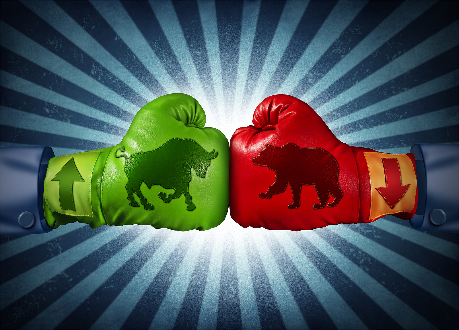 Bull and bear boxing gloves