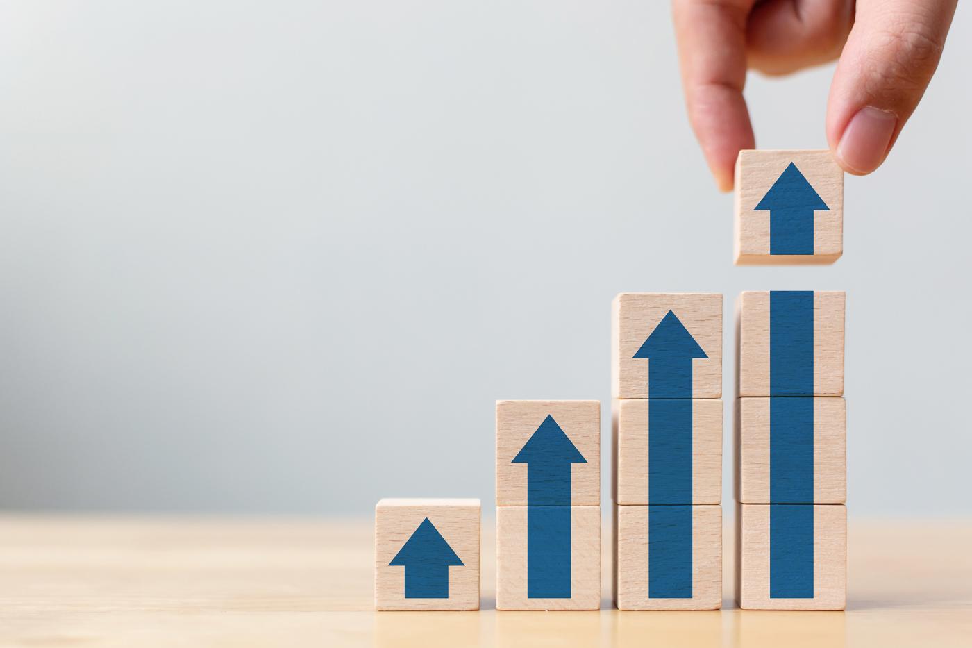 Stock price increase, stock growth, bullish trajectory