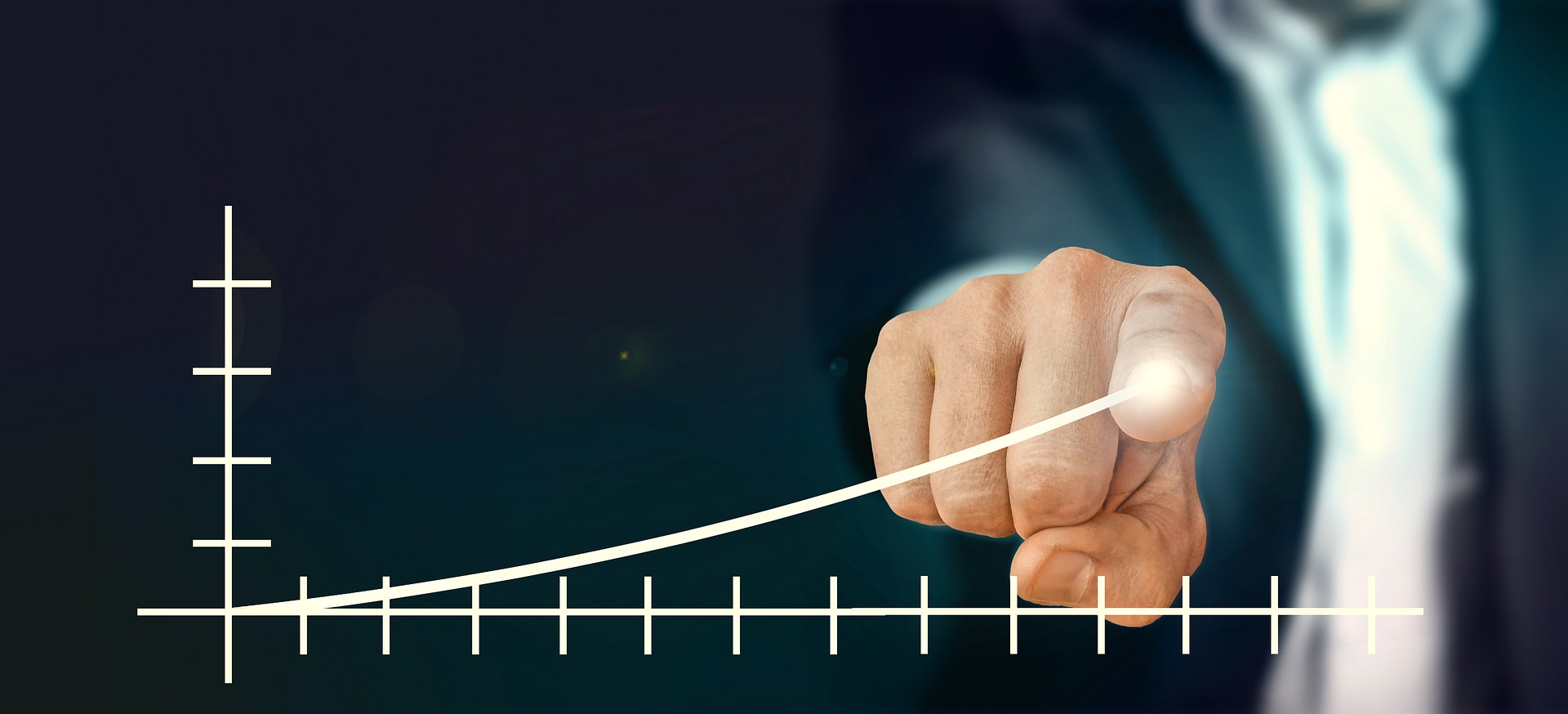 Stock Growth Chart with Businessman