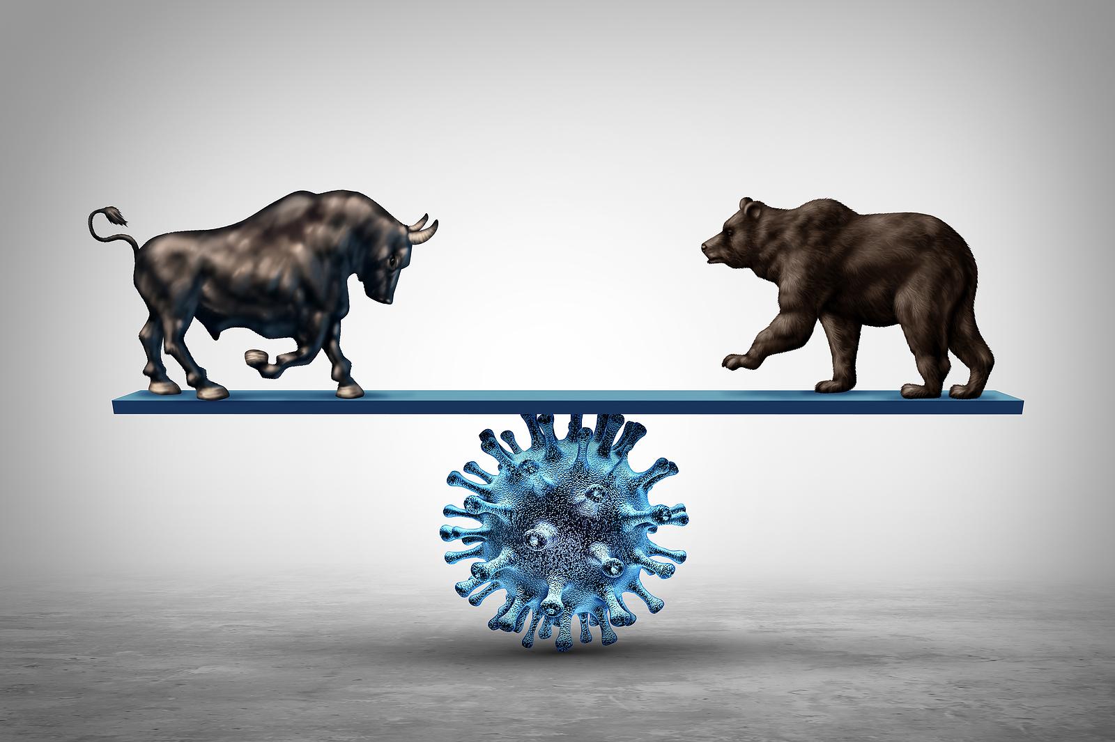 Bull and bear COVID seesaw