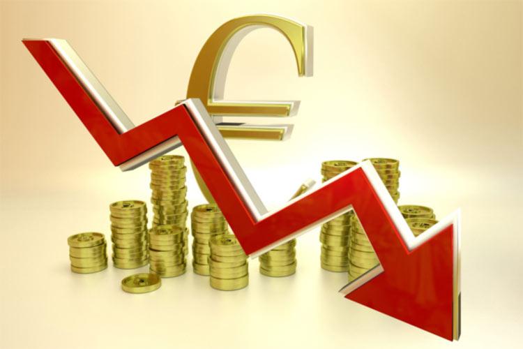 Euro value trending down