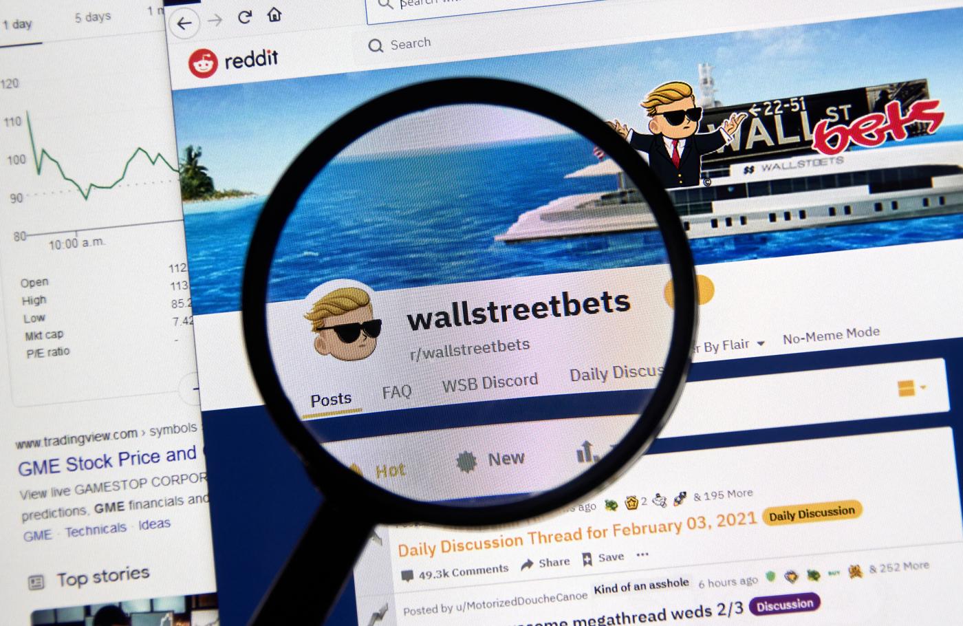 WallStreetBets, Reddit traders, meme stocks, Gamestop, GME