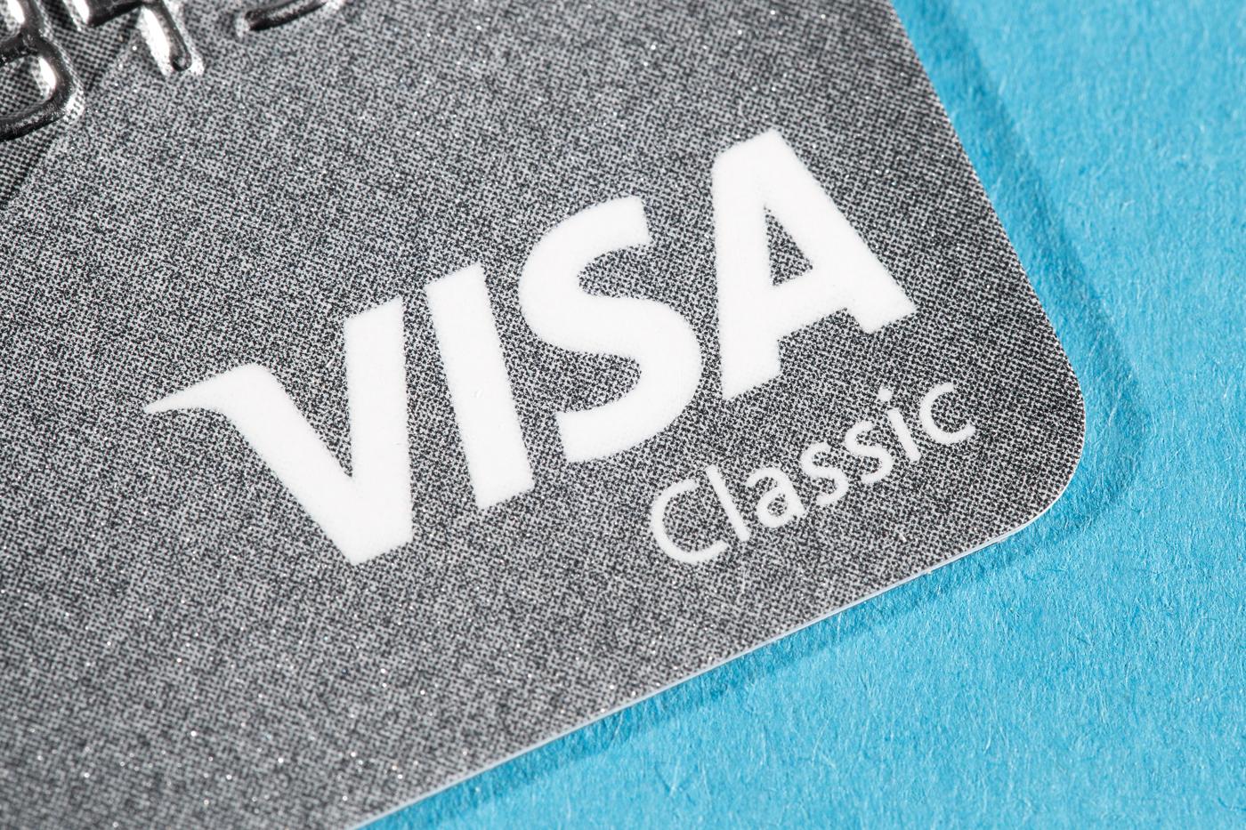 Visa warehouse, V warehouse, credit card warehouse