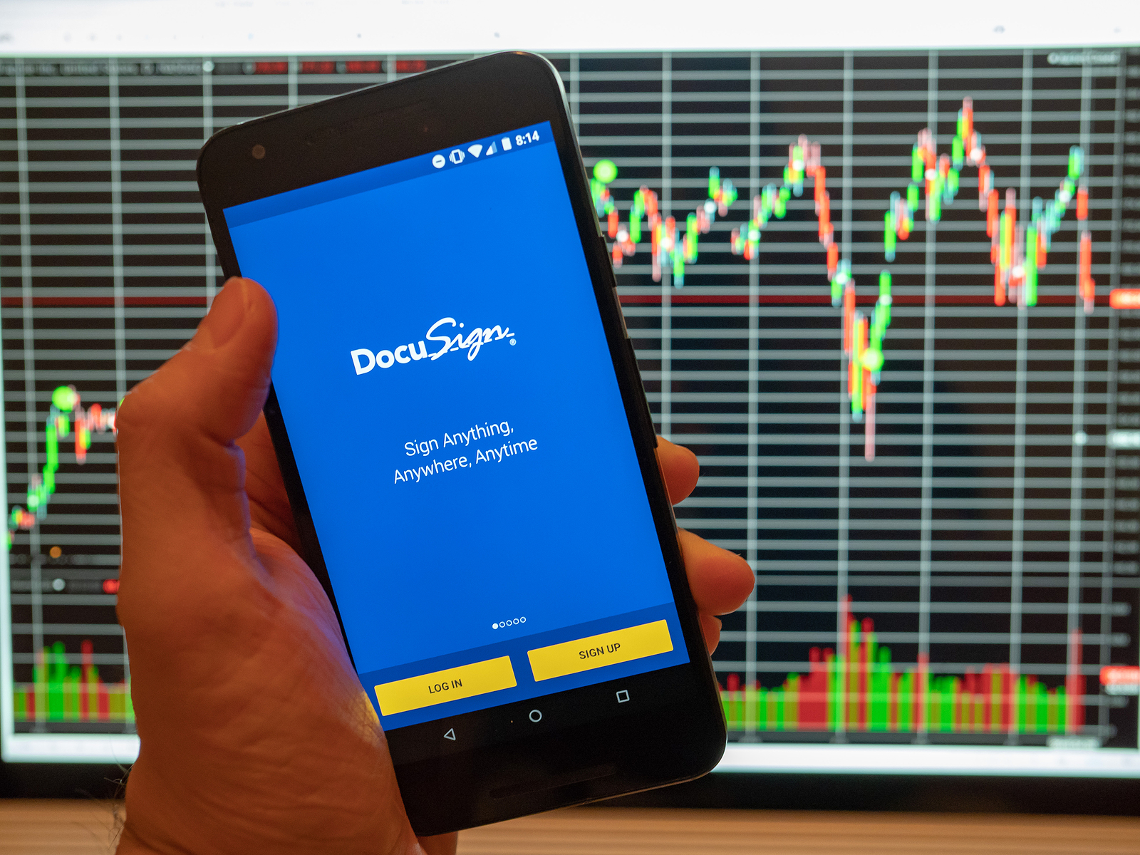DocuSign DOCU stock