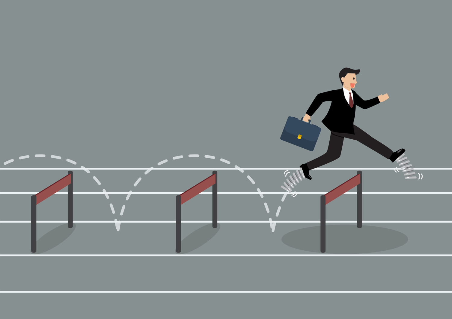Overcoming obstacles, jumping trend lines, moving averages