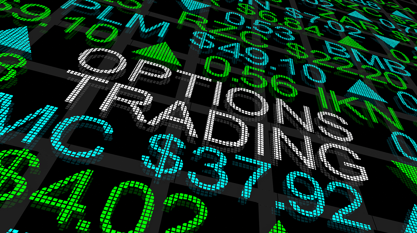 Options Trading Ticker Sign