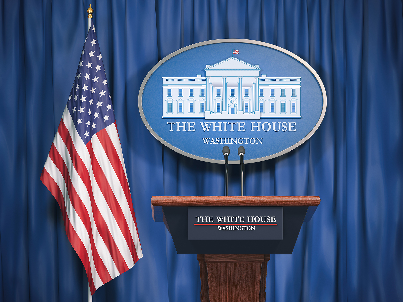 White House Press Conference Stage