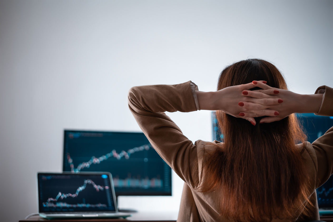 Traders watch the price movements on the stock exchanges