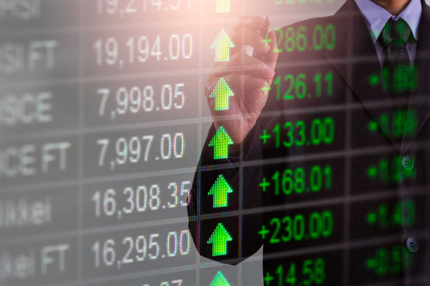 Stock tickers, stock prices, stock market, investing, trading