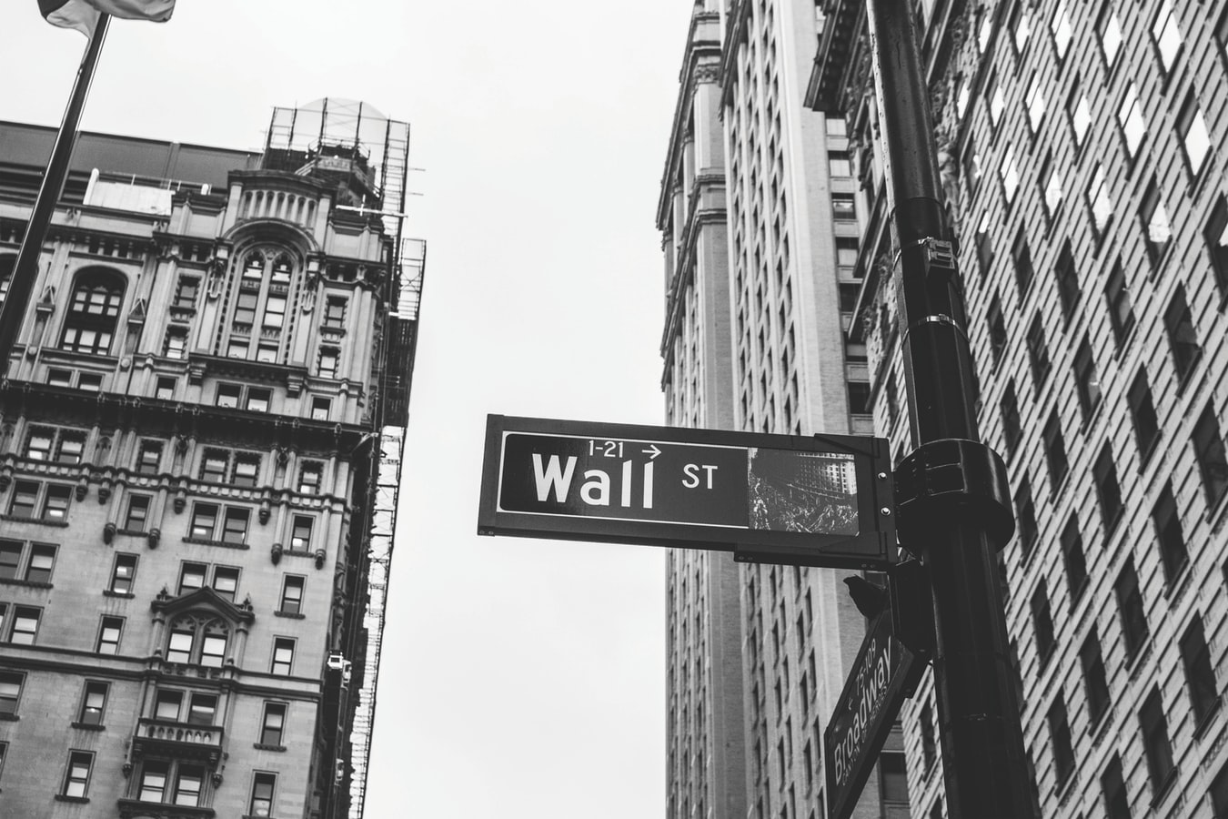Wall Street New York City New York Stock Exchange black and white